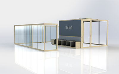 Sound reducing offices and meeting rooms - THE HUB
